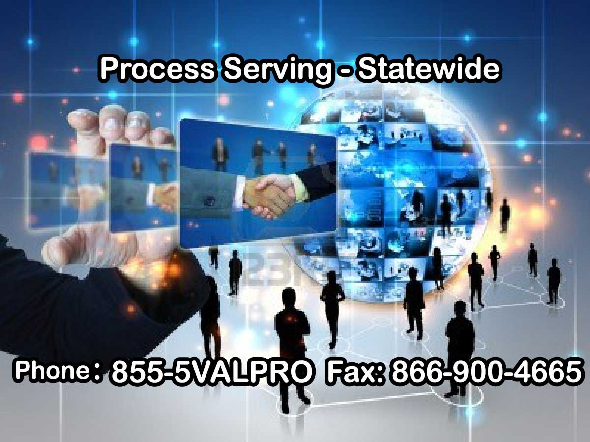 valpro attorney services, sacramento process server
