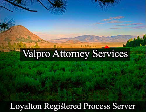 Loyalton California Registered Process Server