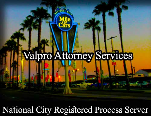 National City Registered Process Server