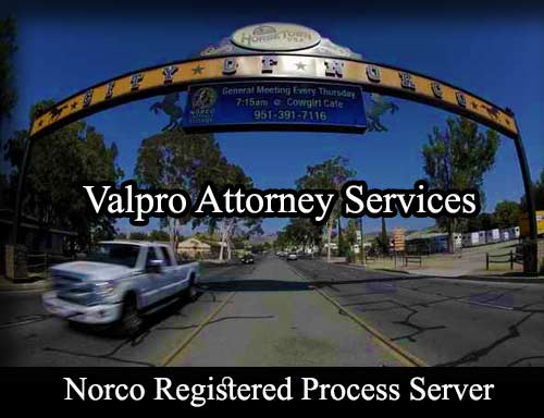 Norco California Registered Process Server