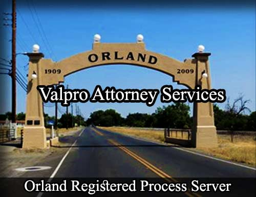 Orland California Registered Process Server