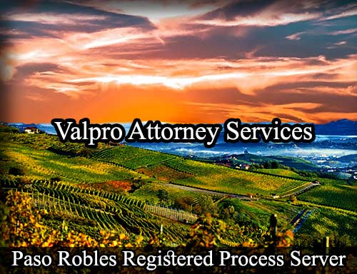 Paso Robles California Registered Process Server