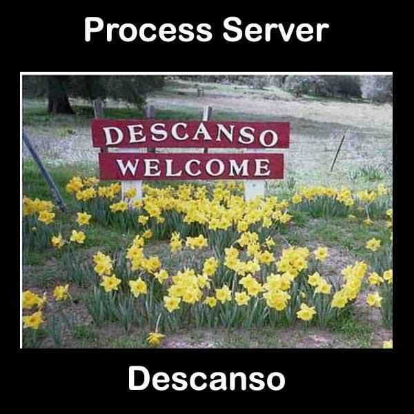Process Server Descanso