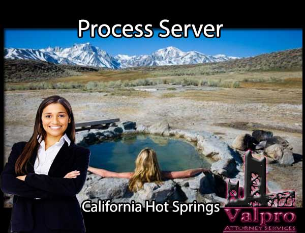 Process Server California Hot Springs