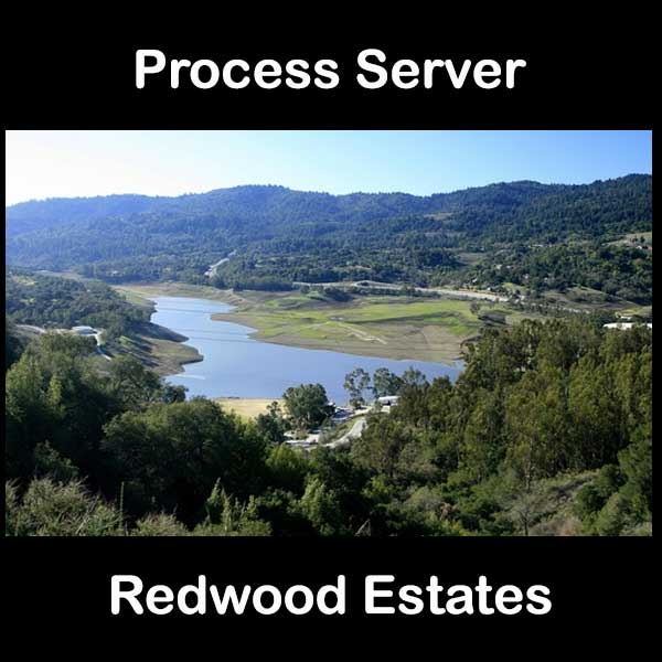 Process Server Redwood Estates