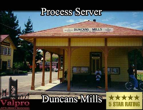 Process Server Duncans Mills
