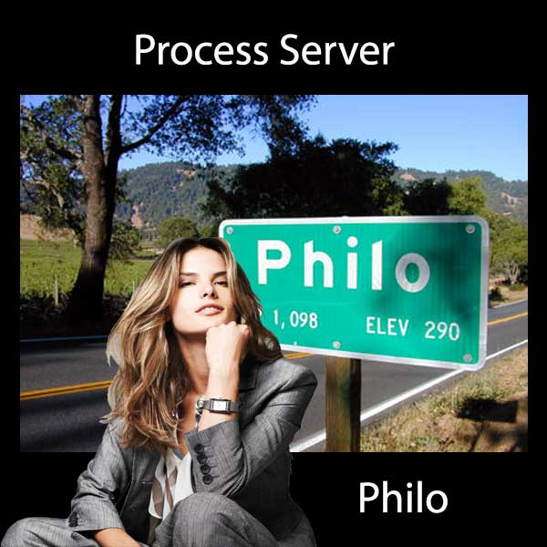 Process Server Philo