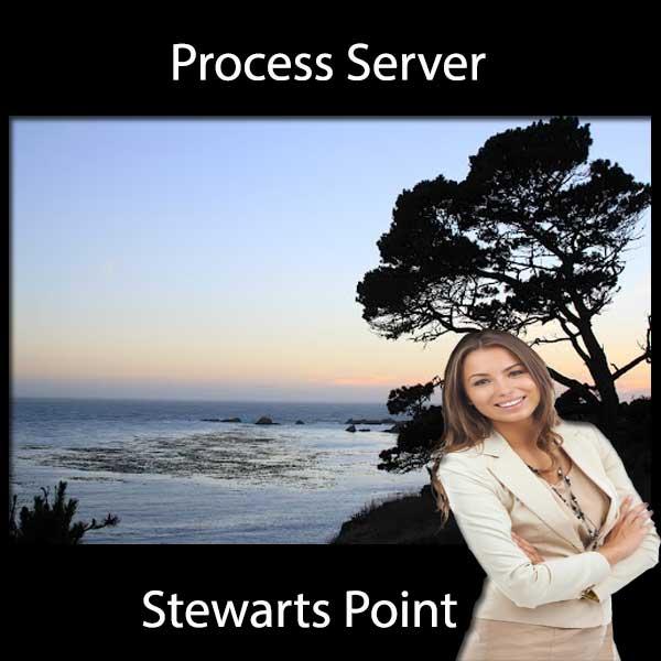 Process Server Stewarts Point