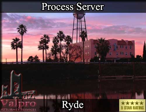 Ryde California Registered Process Server