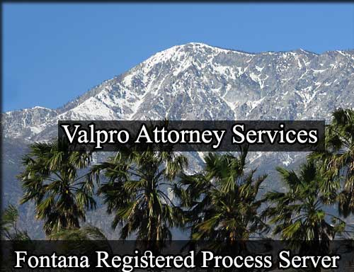 Fontana California Registered Process Server