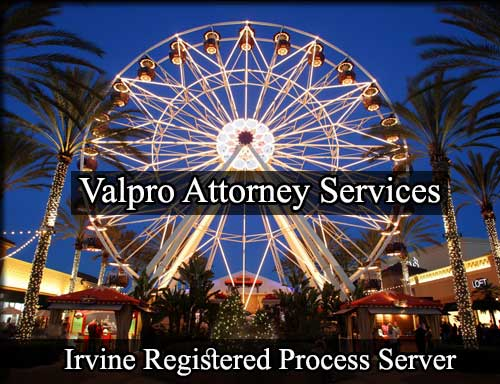 Irvine California Registered Process Server