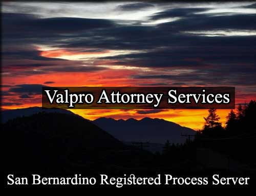San Bernardino California Registered Process Server