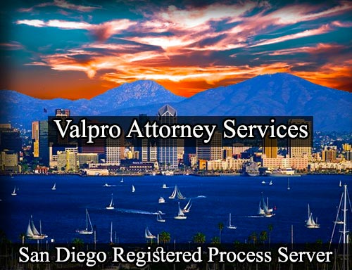 San Diego California Registered Process Server