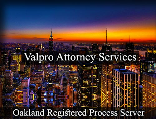 Oakland California Registered Process Server