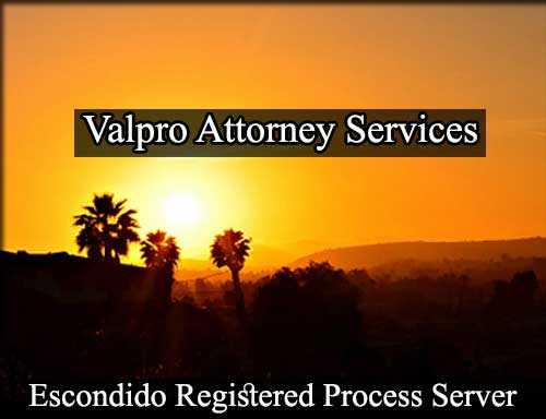 Registered Process Server in Escondido