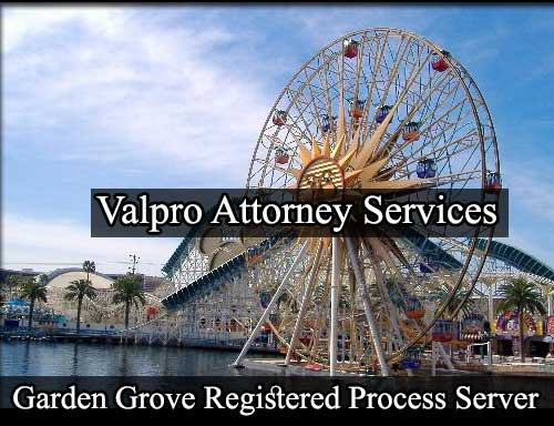 Garden Grove California Registered Process Server