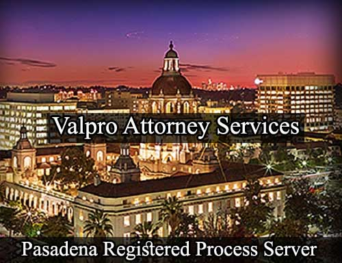 Pasadena California Registered Process Server