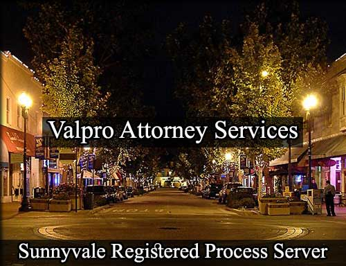 Registered Process Server in Sunnyvale