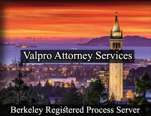 Registered Process Server in Berkeley