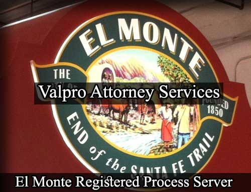 El Monte California Registered Process Server