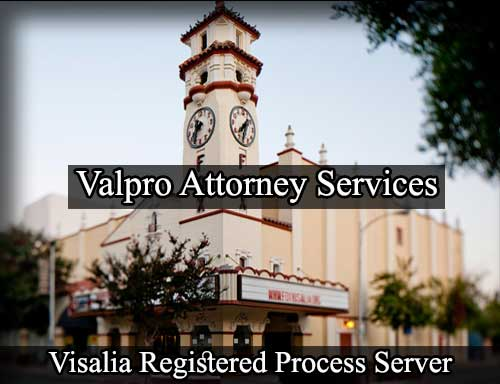 Registered Process Server in Visalia
