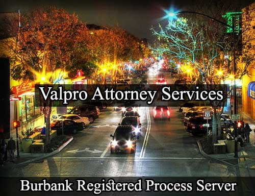 Burbank California Registered Process Server