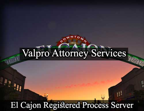 El Cajon California Registered Process Server