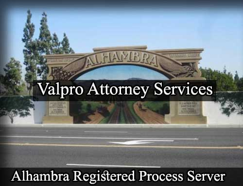 Alhambra California Registered Process Server