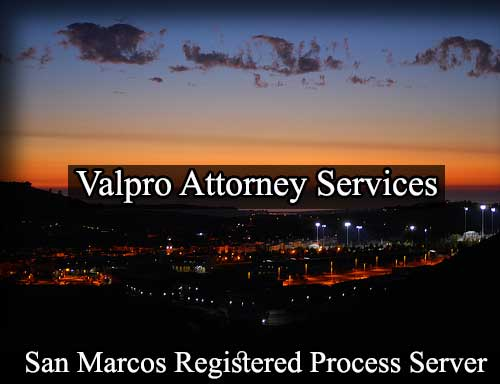 San Marcos California Registered Process Server