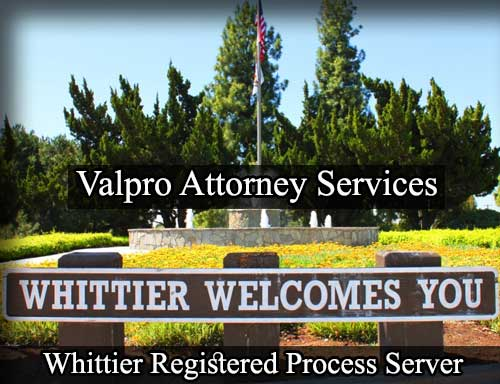 Registered Process Server in Whittier