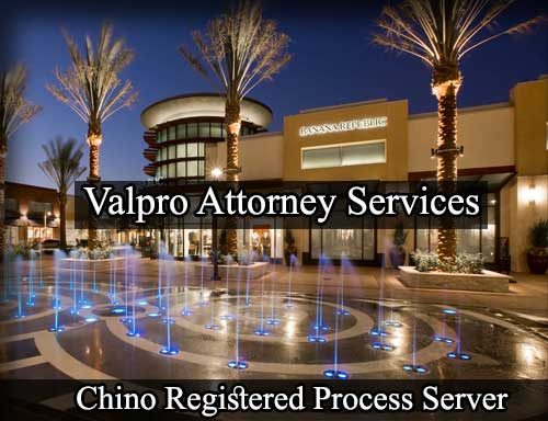 Chino California Registered Process Server