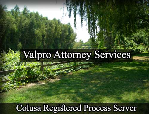 Colusa California Registered Process Server