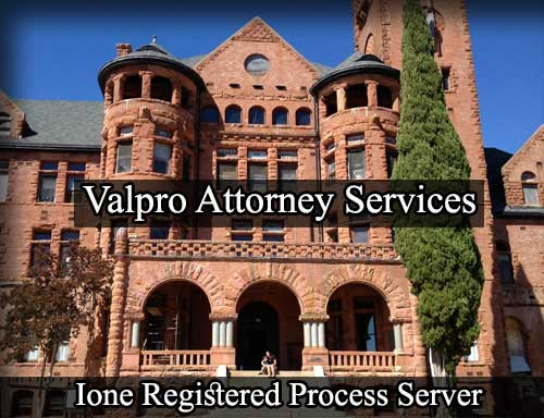 Registered Process Server in Ione