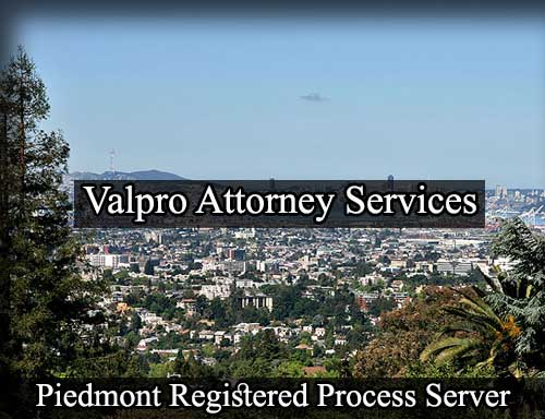 Registered Process Server in Piedmont