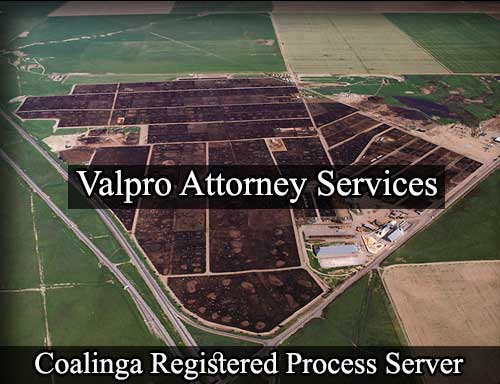 Coalinga California Registered Process Server