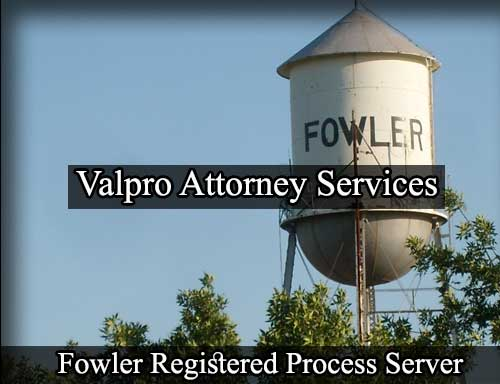 Registered Process Server in Fowler