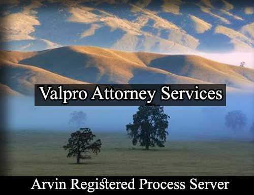 Arvin California Registered Process Server