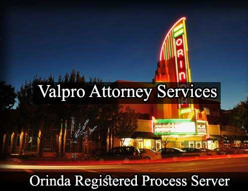 Orinda California Registered Process Server