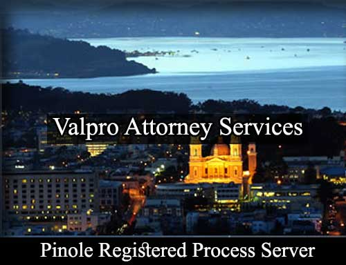 Pinole California Registered Process Server