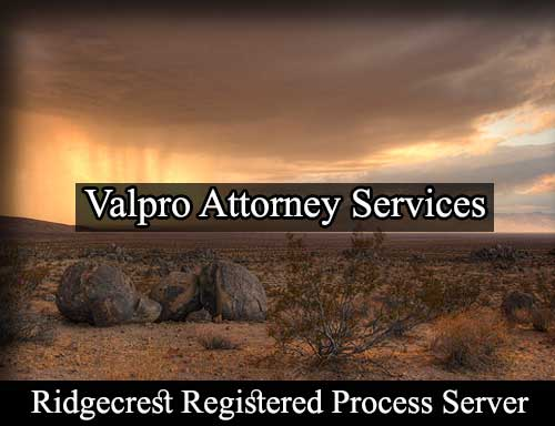 Ridgecrest California Registered Process Server