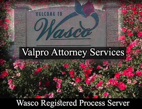 Wasco California Registered Process Server