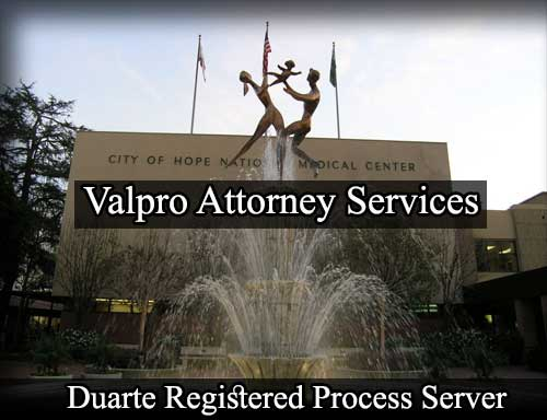 Duarte California Registered Process Server