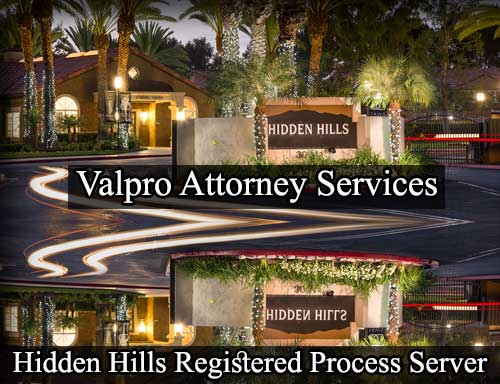 Hidden Hills California Registered Process Server