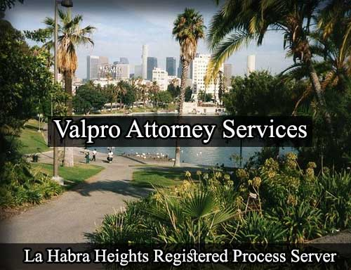 La Habra Heights California Registered Process Server