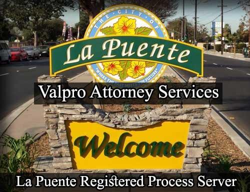 La Puente California Registered Process Server