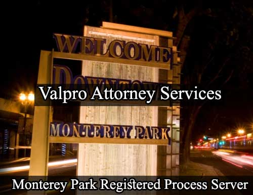 Registered Process Server Monterey Park