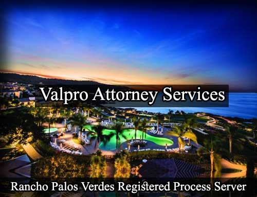 Rancho Palos Verdes California Registered Process Server