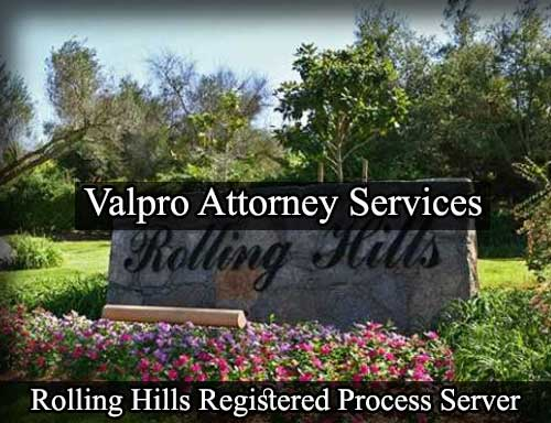 Registered Process Server Rolling Hills
