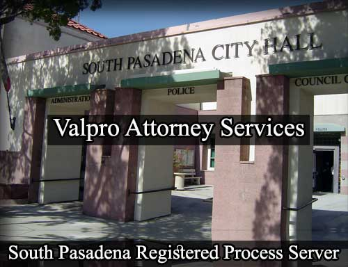 South Pasadena Registered Process Server