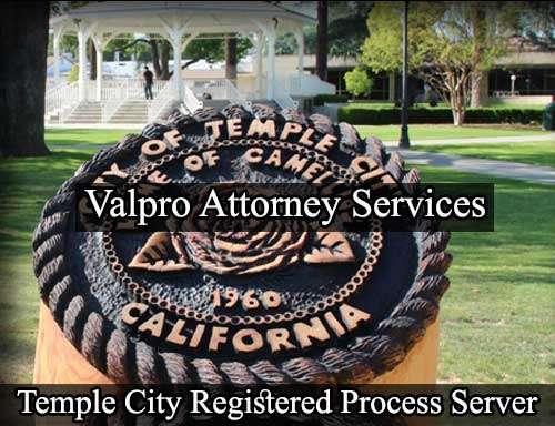 Temple City California Registered Process Server